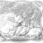 nordijska mitologija Bragi sa harfom