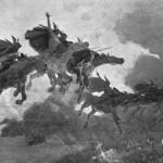 nordijska mitologija Jahanje Valkira