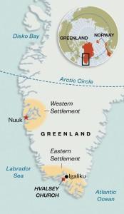 Nordijska mitologija Grenland trase